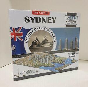 4D CITYSCAPE History Over Time Puzzle The City of Sydney Australia 1000+ pcs