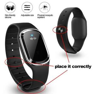 Mosquito Repellent Bracelet Ultrasonic Insect Repeller Portable Wristband W8P8
