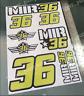 Joan Mir #36 Stickers Decals - Sticker kit (9 Stickers) NEW!!