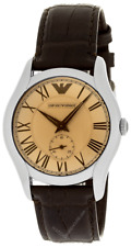 EMPORIO ARMANI Classic 38MM Brown Leather Men's Watch AR1709