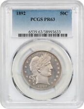 1892 50c PCGS PR 63 - First Year Proof - Barber Half Dollar - First Year Proof