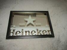 "Vintage Heineken Beer Mirror Trade Mark 31"" x 23"" Rare"