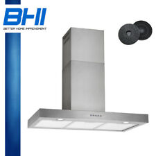 """500CFM 36"""" Wall Mount Stainless Steel Kitchen Range Hood With Carbon Filter"""