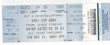 2004 Ottawa Lansdowne Park Frank Clair Stadium unused Grey Cup  CFL Gate Ticket