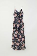NWT -Black Floral H&M DIVIDED Maxi Dress, Size 12