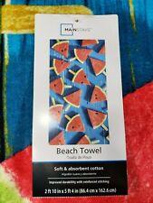 Watermelon Popsicle  Beach Towel Bright Colors