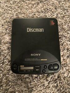 Sony Discman CD Player Model D-125 Compact Disc Player Walkman Black TESTED