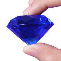 New 30mm Blue Crystal Diamond Shape Paperweight Glass Gem Display Gift Orname