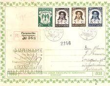 Suriname nr 183/186 op aangetekende brief naar Nederland