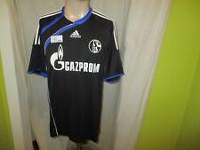 """FC Schalke 04 Original Adidas Ausweich Trikot 2009/10 """"GAZPROM"""" Gr.L TOP"""