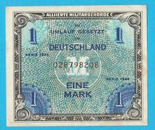 1944 Allied Issued- Germany occupied- 1 Mark Banknote- Beauty