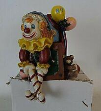 "Vintage Stocking Holder ""Jack in the Box, Noel"" Ceramic Pottery Americana"