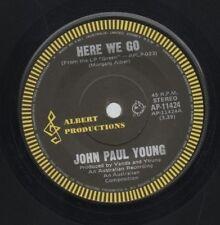 "JOHN PAUL YOUNG     Rare 1977 Australian Only 7"" Albert Rock Single ""Here We Go"""