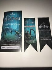 Harry Potter Warner Bros Studio Tour London Flyer And Bookmarks Type 1 + 2 2017.