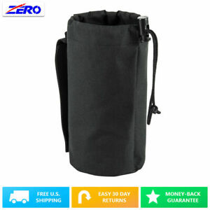 """Black MOLLE Gear Hydration Water Bottle Pouch Utility Holder PALS Straps 3.25"""""""