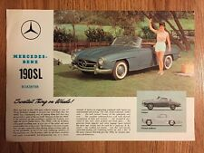 Vintage 1962 Mercedes Benz 190SL Roadster Sales Specifications Brochure