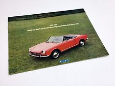 1971 Fiat 124 Sport Coupe Sport Spider Station Wagon Special Brochure