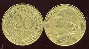 20 centimes 1975    marianne
