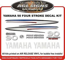 2002 - 2006 + YAMAHA 90 HP Four Stroke Outboard Decal Kit  reproductions