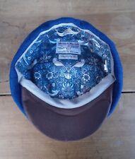 Harris Tweed Bakerboy Berretto, Cappello da Strillone Cappello, Medium 57-58 cm (Blu)