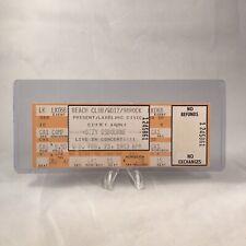 Ozzy Osbourne Lakeland Civic Center Fl Concert Ticket Stub Vintage Feb 23 1983