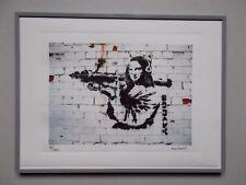 "Lithographie , Banksy  , "" Mona Lisa ""  , Tirage 300 Ex , Street Art Graffiti"