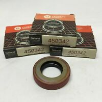 """Lot of 3 National 450342 Nitrile Oil Shaft Seal 1.0625"""" Bore x 2"""" OD x 0.4375"""" W"""