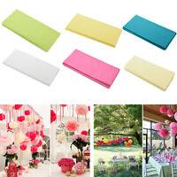 20 Sheets Tissue Paper Solid Colour Wrap Acid Free Flowers 6 colors QMFDBUBLUS