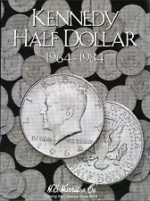 Coin Folder - Kennedy Half Dollar 1964 - 1984 Set - HE Harris Album # 2696 - New