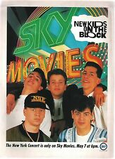 New Kids On The Block New York show magazine ADVERT/Poster/clipping 11x8 inches