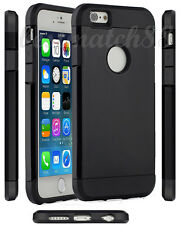 for iPhone 6 4.7 inch phone dual layer black shiny hybrid soft hard case cover