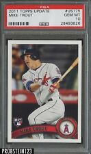 2011 Topps Update #US175 Mike Trout Angels RC Rookie PSA 10 AUCTION #2