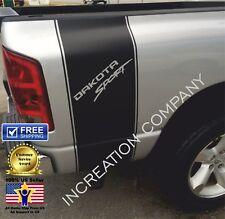 Racing Stripes For Dakota Sport Truck Decals graphics rear bed Stickers 4x4 Art