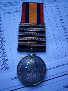 Victorian Boer War QSA medal CC OFS TR 0102 Tpr Miles South African Constabulary