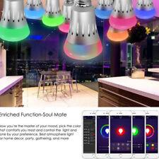 E27 Bombilla Led RGB WIFI APP Control Inteligente Música Altavoz Lámpara