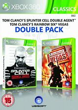 Rainbow Six Vegas & Splinter Cell Double Agent Double Pack Xbox 360 Brand New