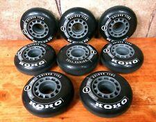 Lot of (8) KOHO ROLLER BLADES WHEELS inline skates hockey, roller skating, black