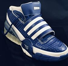 Sample Pair Of Adidas Commander Bounce Mens Blue White Basketball High Top Sz 15