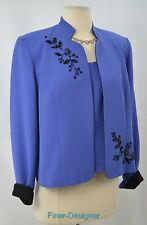 POSITIVE ATTITUDE 2pc Evening JACKET BLAZER cami TOP beaded set SIZE 12 NEW VTG