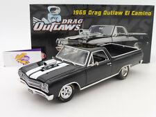 """ACME A1805409 # Drag Outlaw El Camino Baujahr 1965 in """" schwarz-weiß """" 1:18 NEU"""