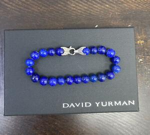 David Yurman • Spiritual Bead Bracelet Lapis Lazuli 8 inches