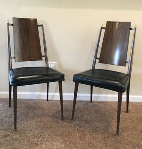 Vintage 1960's Chromcraft Dining Chair With Black Seats Senatobia Mississippi
