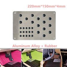 Car Truck Aluminum Floor Carpet Plate Mat Patch Foot Heel Pedal Pad Anti-skid