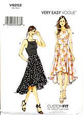 VOGUE SEWING PATTERN 9252 MISSES 6-14 EASY FIT & FLARE DRESS W/ PRINCESS SEAMS
