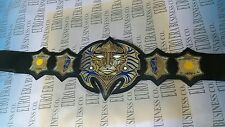 New Replica TNA Jeff Hardy Immortal Belt Adult Size, Metal Plates,Leather Strap