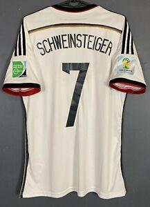 SCHWEINSTEIGER #7 GERMANY NATIONAL 2013/2014 FOOTBALL SOCCER SHIRT JERSEY SIZE M