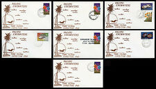 Pacific Encounters Cook Island Expedition 1980 Stamp Covers Complete Set of 7