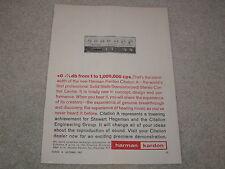 Harman Kardon Citation A Preamp Ad, 1962 Original, 1 page, Article, Beautiful!