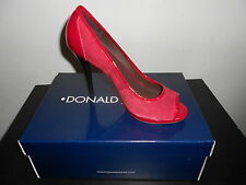 Donald Pliner Velka NIB Red/Red Suede/Patent 8.5