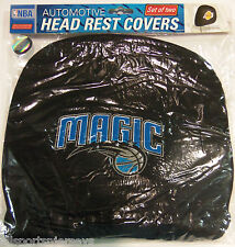 NBA NWT HEAD REST COVERS -SET OF 2- ORLANDO MAGIC - CURRENT LOGO